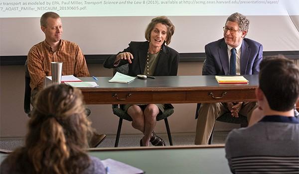 (L-R) Ken Miller, Liz Hubertz and Ron Levin